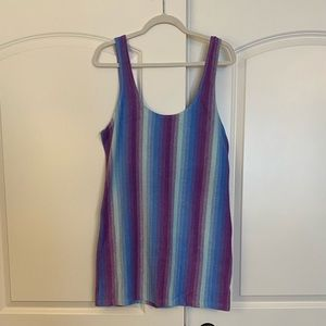 L purple and blue terry cloth dress from UO